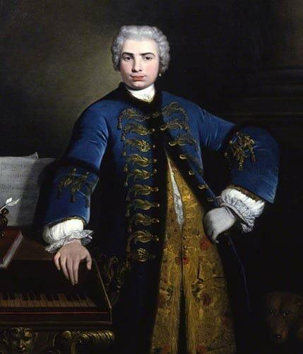 Portrait of the famous castrato singer Farinelli