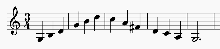 musical scale exercise for the vowel sound Uh
