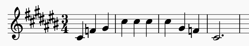 note scale for singing warmup with many sharps
