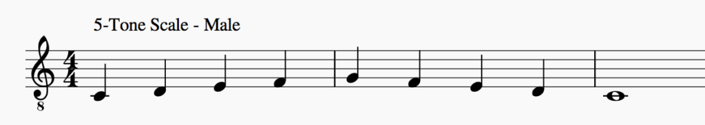 musical scale for men