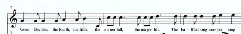 Sheet music showing Hallelujha by Leonard Cohen